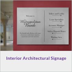 Interior Architectural Signage